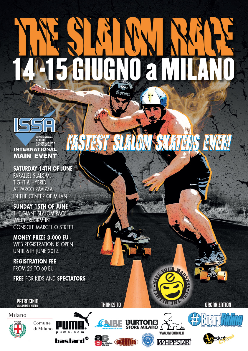 The Slalom Race 2014 - Longboard Milano